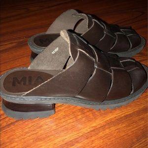 MIA Gladiator Chunky Heel Sandals 8.5